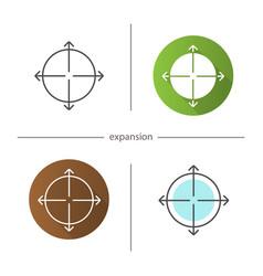 Expansion symbol icon vector