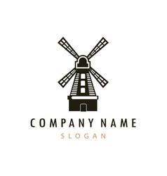 Farm mill logo vector