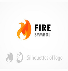 fire symbol logo emblem isolated on white - style vector image