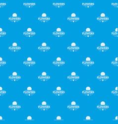 flower spring pattern seamless blue vector image