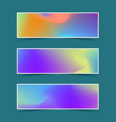 Fluid colorful banners set vector