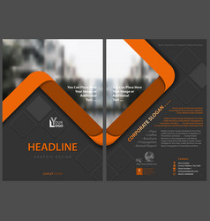 Flyer template with orange stripes vector