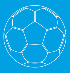 football ball icon outline style vector image