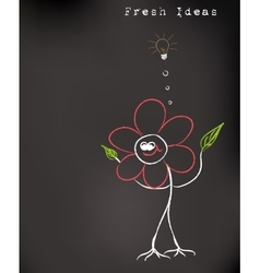 Fresh idea art vector