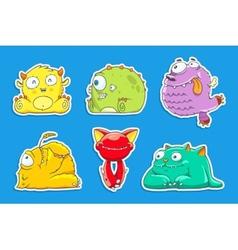 Funny cartoon unusual monsters vector