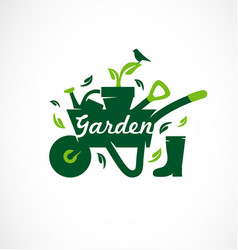 gardening icon set garden tools vector image