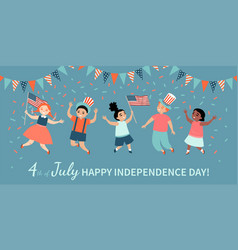 Happy fourth july america independence day vector