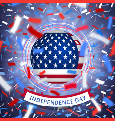 happy usa independence day card with confetti vector image