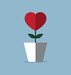 Heart flower pot vector