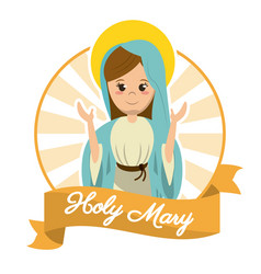 Holy mary religosity belief saint image vector