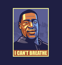 I cant breathe vector