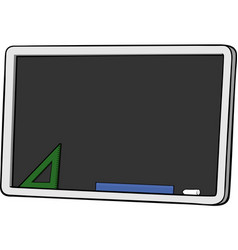 isolated cartoon blackboard vector image