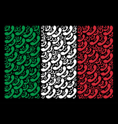 italian flag collage of call icons vector image