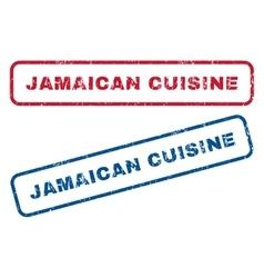 Jamaican Cuisine Rubber Stamps vector