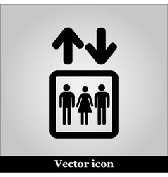 Lift or elevator symbol on grey background vector image