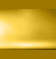 Luxury gold studio room background with spotlights vector