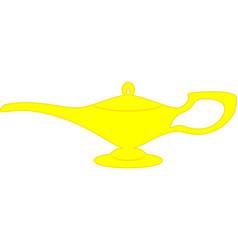 magic genie lamp vector image