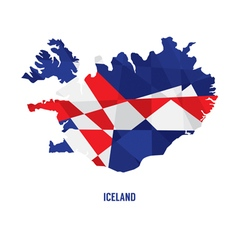 map iceland vector image