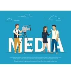 Mass media concept vector