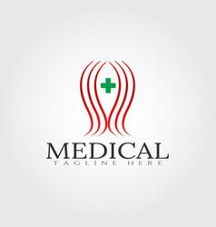 Medical logo design vector