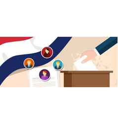 netherland democracy political process selecting vector image vector image