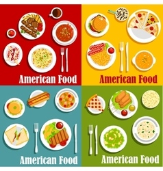 North american or United States national cuisine vector