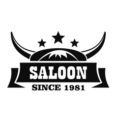 old desert saloon logo simple style vector image