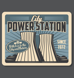 Power station industrial factory vector