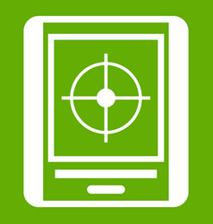 radar icon green vector image
