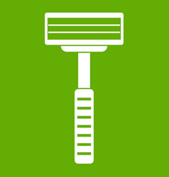 razor icon green vector image