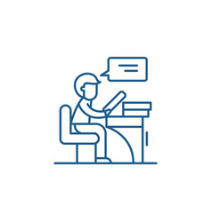 reader line icon concept reader flat vector image
