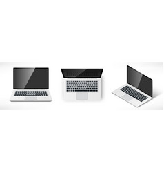 realistic laptop set vector image