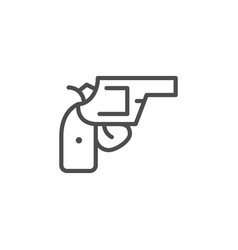 revolver line icon vector image