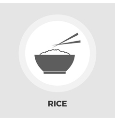 Rice icon flat vector image