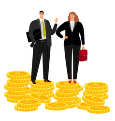 Rich businessman couple vector