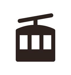 Ropeway icon vector