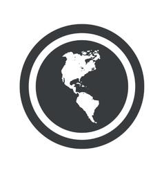 Round black America sign vector image