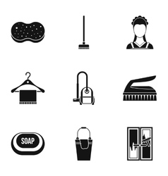 Sanitary day icons set simple style vector