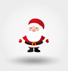 Santa claus icon flat vector