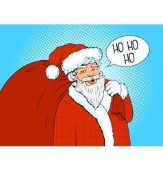 Santa Claus retro halftone vector
