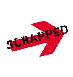 scrapped rubber stamp vector image