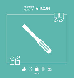 screwdriver icon symbol vector image