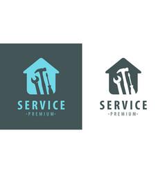 service logo construction apartment repair vector image