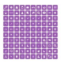 Set of 100 Universal Icons Business internet vector image