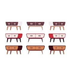 Set of retro sideboards vector image