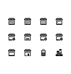 Shop icons on white background vector image