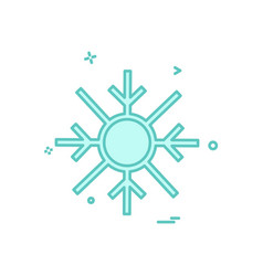 snowflakes christmas icon design vector image