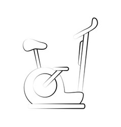 Spinning stationary bicycle vector