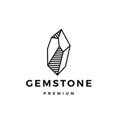 stone gem gemstone logo icon vector image