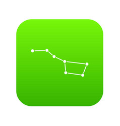 the great bear constellation icon digital green vector image